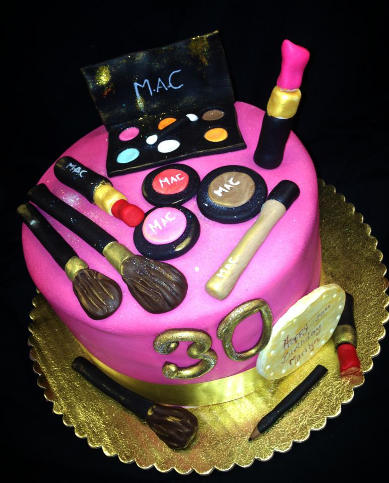 Mac Makeup Cake Toppers