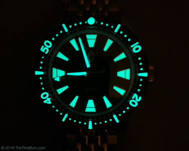 Emperor Diver 2017 WatchUseek F71 Forum Watch lume