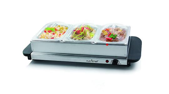 Nutrichef Food Warmer Buffet Server