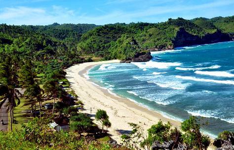 Tempat wisata pantai teleng ria Pacitan