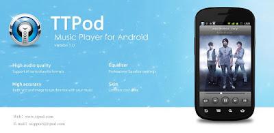 TTPod Mod for Android v9.0.3 – Aplikasi Musik + Lirik Langsung