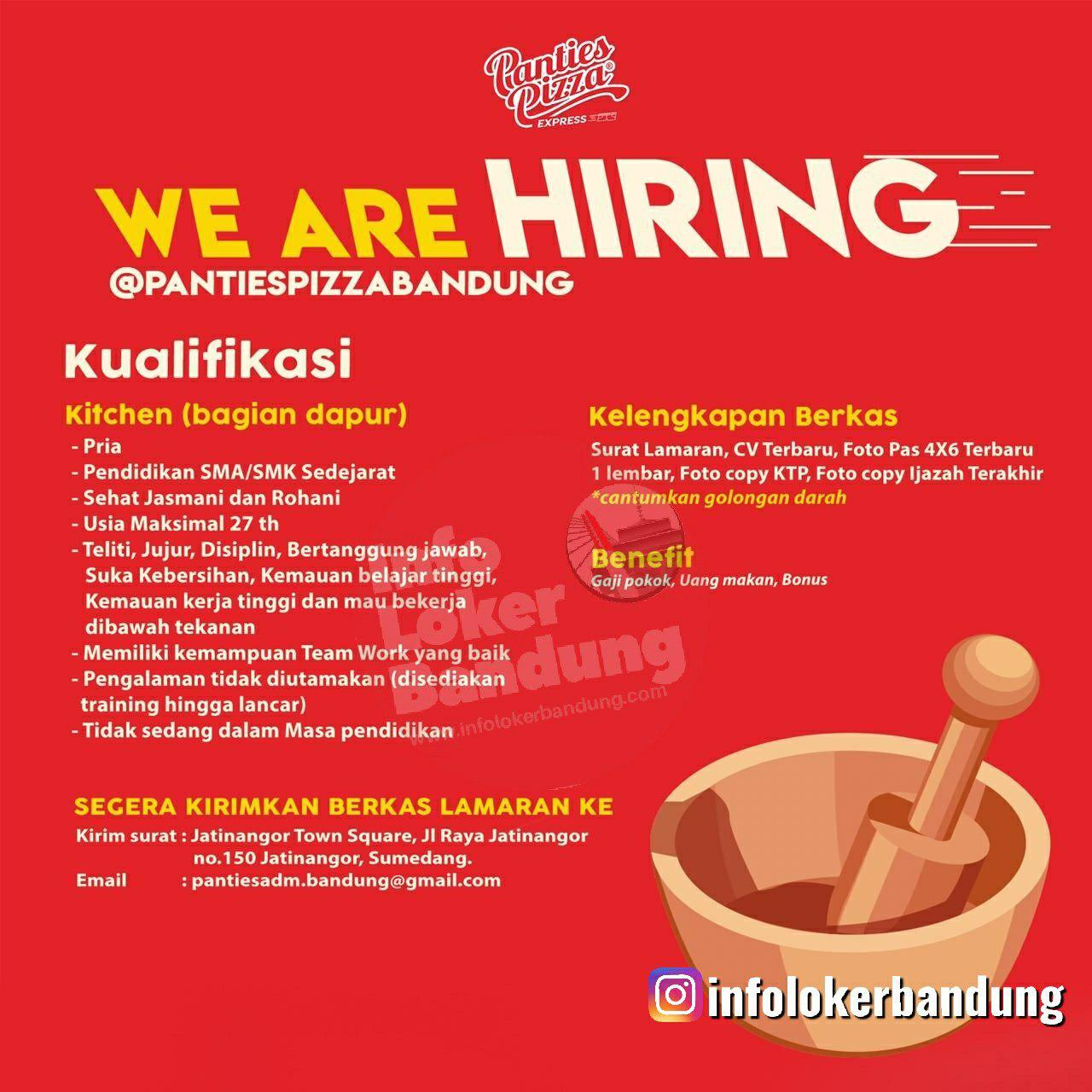 Lowongan Kerja Panties Pizza Bandung Juli 2019