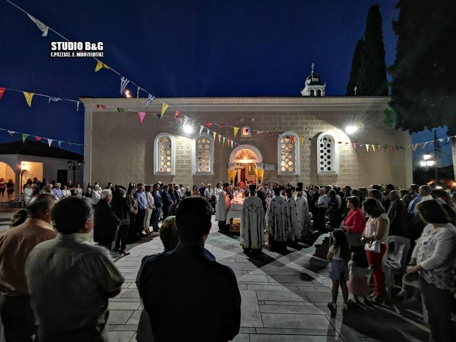 Αρχιερατικός Εσπερινός στο Λυγουριό για την εορτή της Αγίας Τριάδος