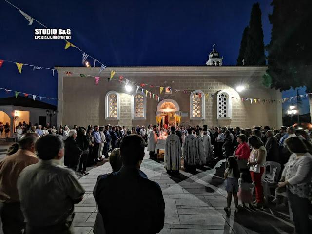 Αρχιερατικός εσπερινός στο Λυγουριό για την εορτή της Αγίας Τριάδος (βίντεο)