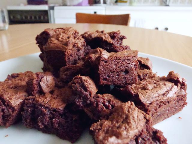 fudge brownies chocolat noir recette