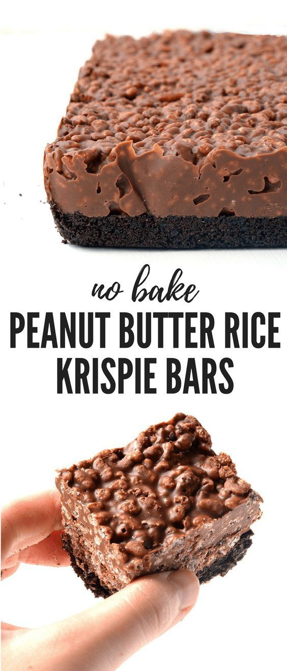 Peanut Butter Rice Krispie Bars Recipe | Easy All Recipes #dessertrecipes #peanutbuttercookies #cakerecipeseasy