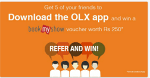 Refer 5 Friends and Get Rs 250 Bookmyshow Voucher