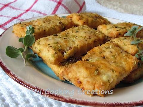 Солени бисквити със сушени домати и овче сирене * Biscottini ai pomodori secchi e pecorino sardo