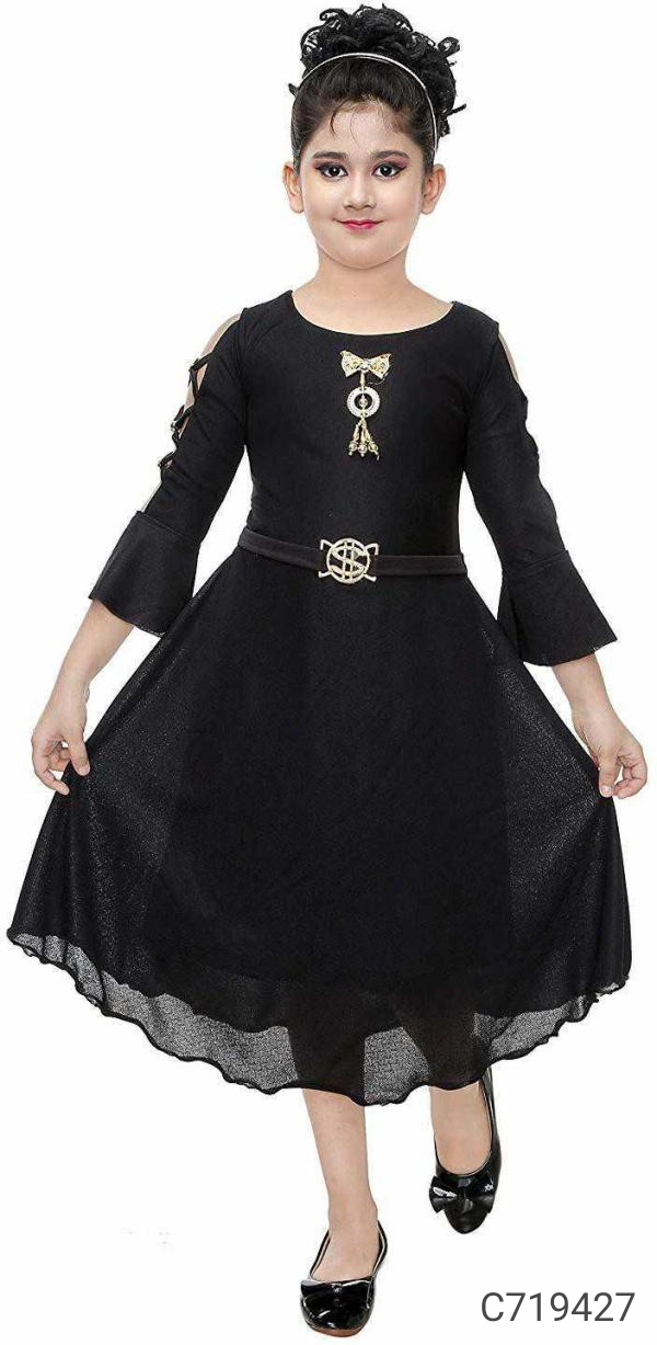 Girl's Solid/Printed Frocks just 399₹+ Shipping Free