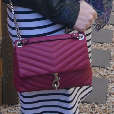 Rebecca Minkoff Edie small crossbody bag in magenta   awayfromtheblue