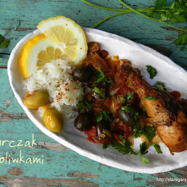 Kurczak z oliwkami (tagine) w wolowarze