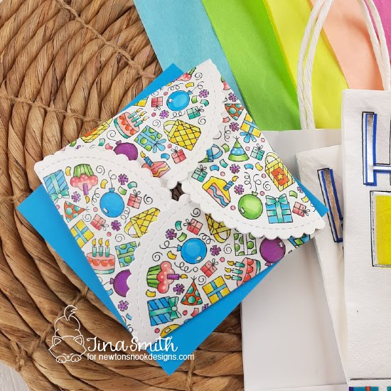 Folding Birthday Card by Tina Smith | Birthday Roundabout Stamp Set and Circle Frames Die Set by Newton's Nook Designs  #newtonsnook #handmade