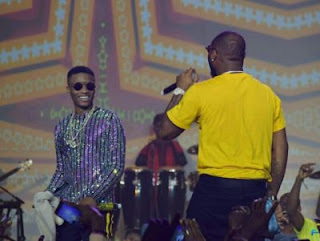Davido Joins Wizkid on Stage at 'The Wizkid Concert' in Lagos
