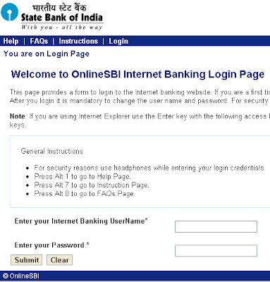 online application form state bank of india