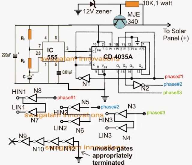 3 phase converter circuit
