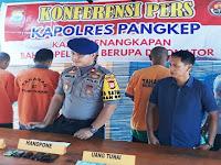 4 Orang Pengedar, Penjual dan Perakit Detonator Bom Ikan Diciduk Sat Polair Polres Pangkep