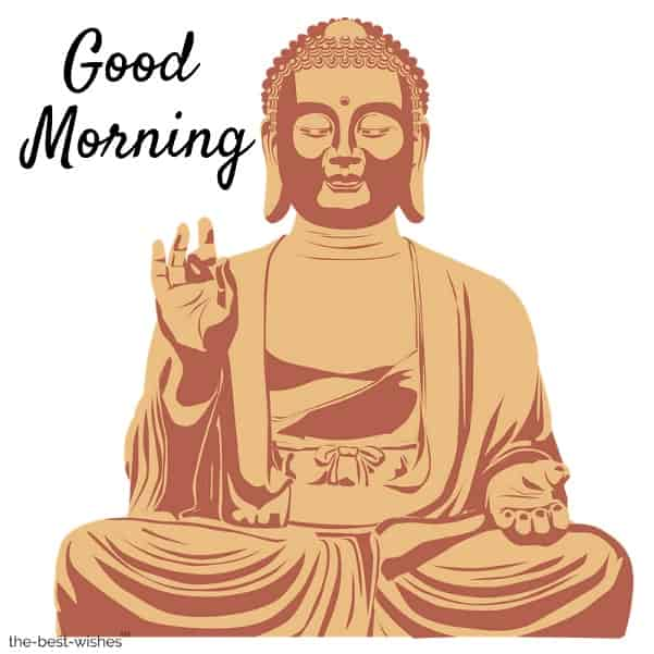 good morning with lord buddha image