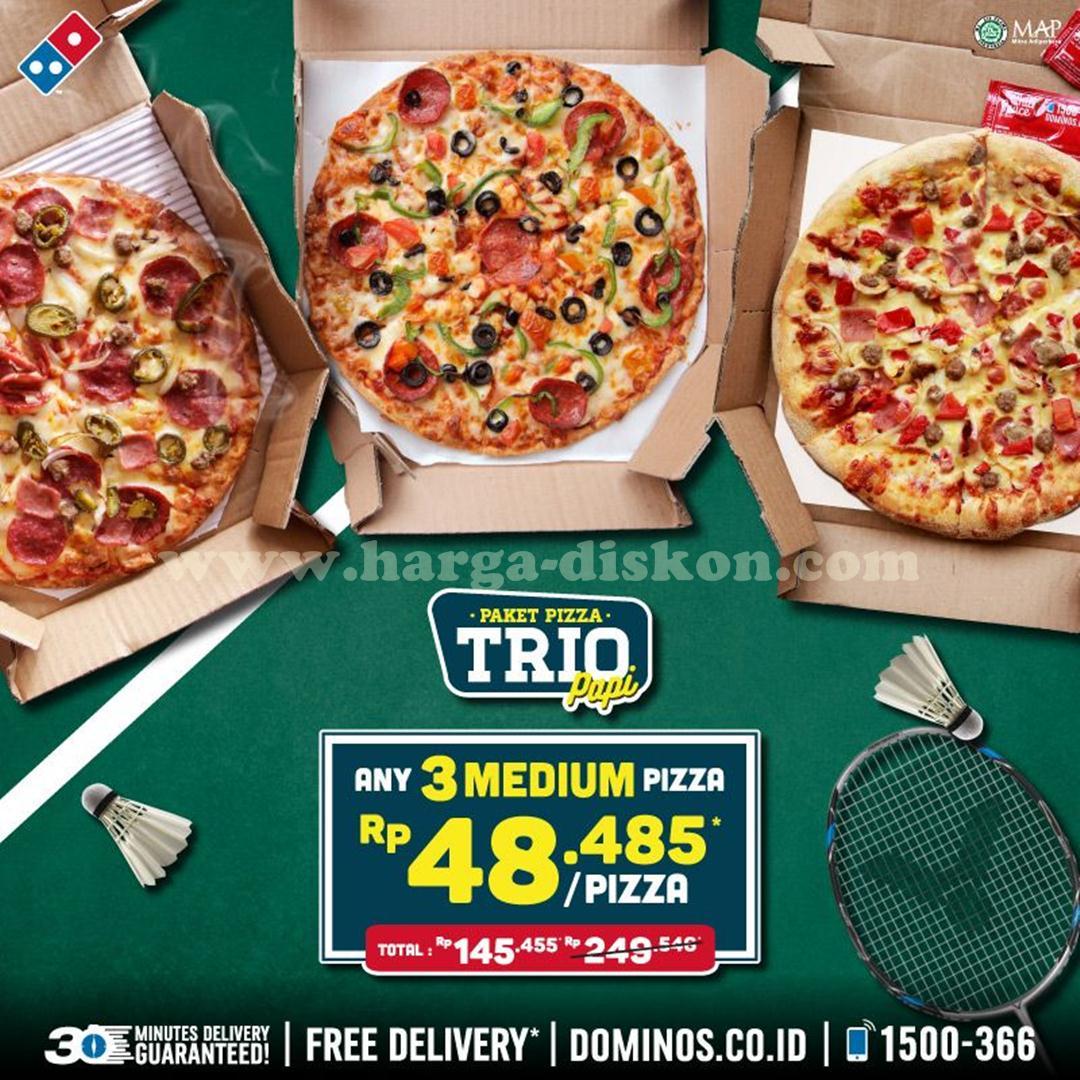 Promo Dominos Pizza Terbaru Paket Pizza Trio Rp48 485 Pizza Harga Diskon