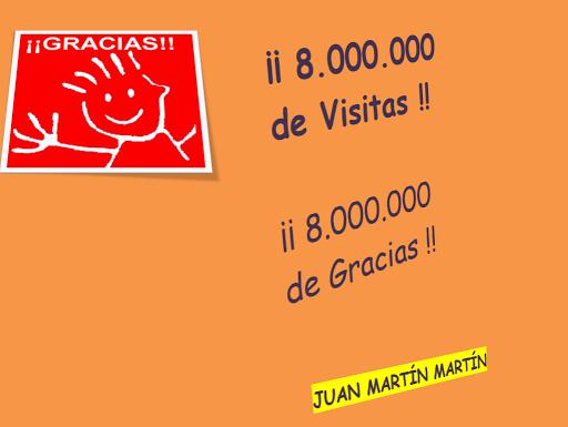 8.000.000 de visitas