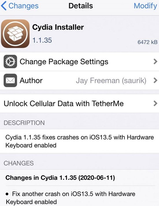 Cydia 1.1.35 Installer for iPhone, iPad & iPod Touch