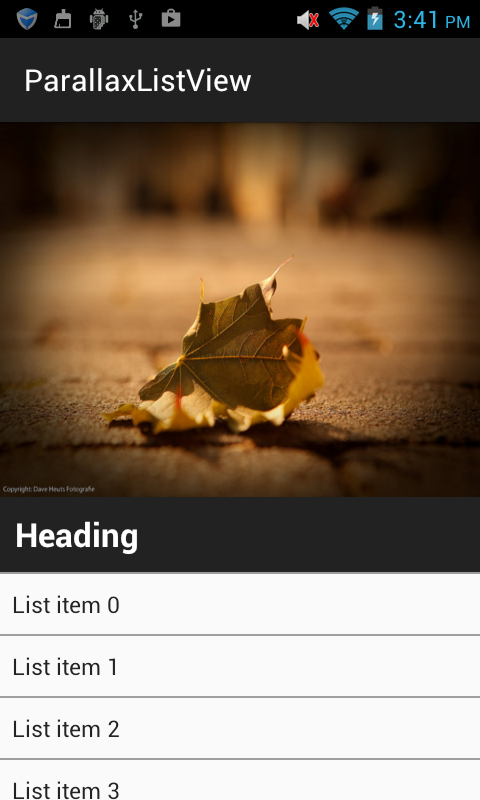 AndroidDhina: Android Parallax effect in listview