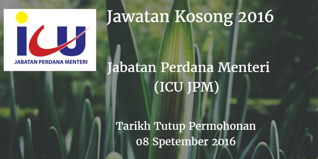 Jawatan Kosong ICU JPM  08 September 2016