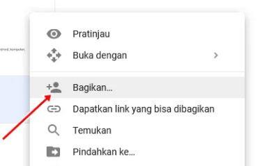 google drive bagikan