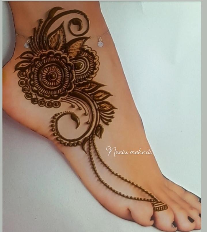 Feet Mehndi Designs Easy 2021 Feet Mehndi Design Neetu Mehndi Neetu Mehndi Design