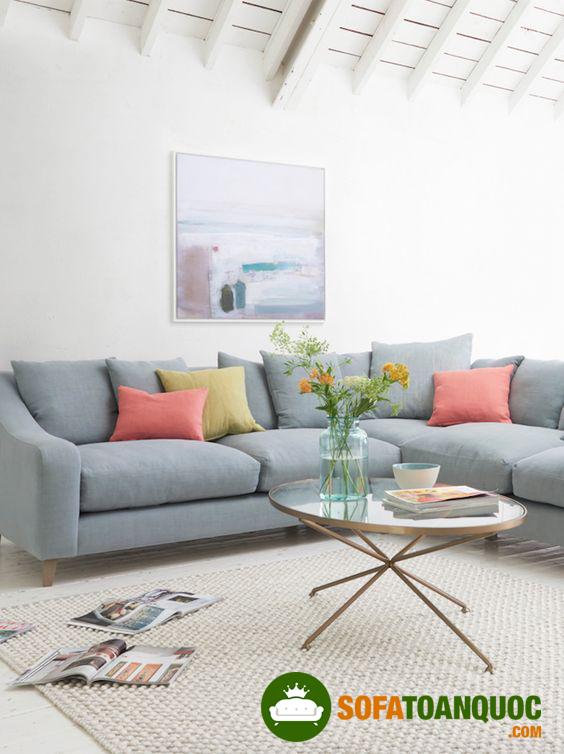bàn ghế sofa góc cho phòng khách
