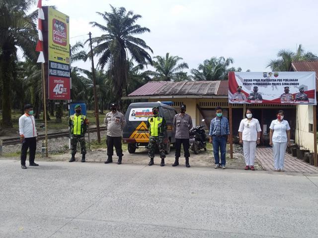 Perbatasan P. Siantar-Lima Puluh, Personel Jajaran Kodim 0207/Simalungun Bersama Dinas Terkait Laksanakan Pam Operasi Aman Nusa II