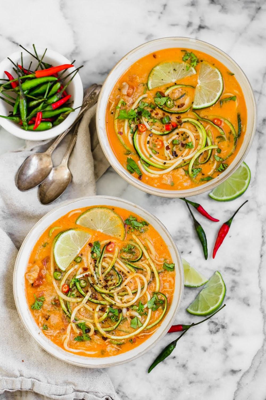 Thai Chicken Zucchini Noodle Soup | The Movement Menu