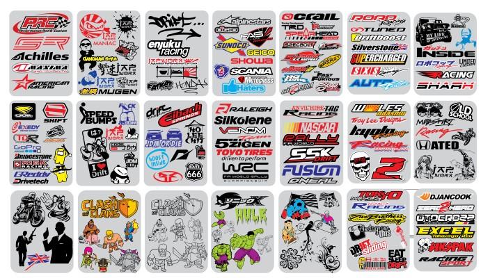 Berikut Kumpulan mentahan stiker sponsor racing
