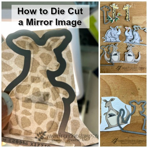 Animal Expedition, animal outing, Petal Palette, How to Die cut Mirror Image, Stampin'Up!, Frenchie' Stamps,