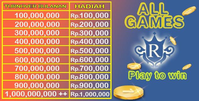 Bonus TO Bulanan ALL GAMES
