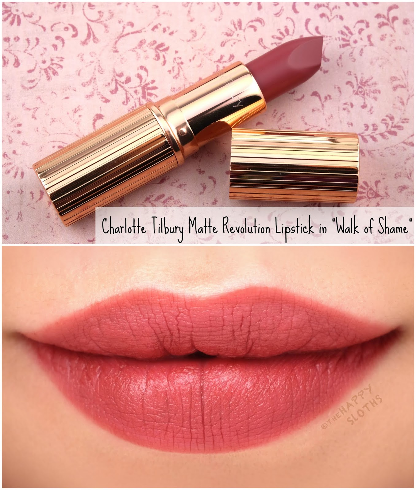 "Charlotte Tilbury | Matte Revolution Lipstick in ""Walk of Shame"": Review and Swatches"