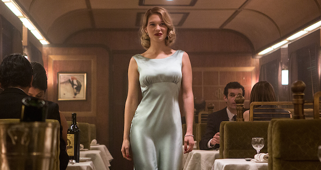 How Lea Seydoux can walk like that inside a wobbly train car without tripping in her heels is a bigger fucking mystery than who Franz Oberhauser really is.