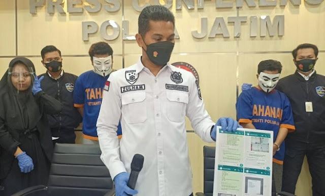 Komplotan Pemalsu Ijazah dan Akte yang Jual Jasanya Via Medsos Dibekuk Polda Jatim