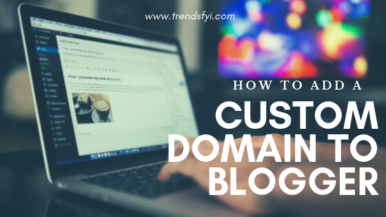 add a custom domain to blogger