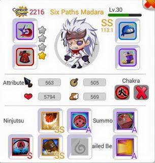 Trikrahasia Cara cepat Dapat Ninja Six Paths Madara Rank SS Ninja Heroes
