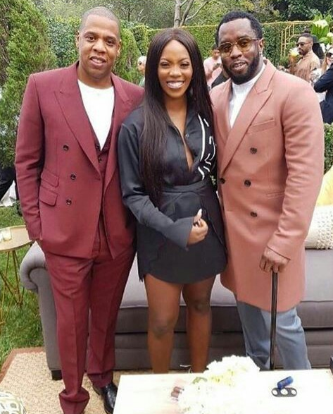 Tiwa savage pictured with Jay Z, Diddy