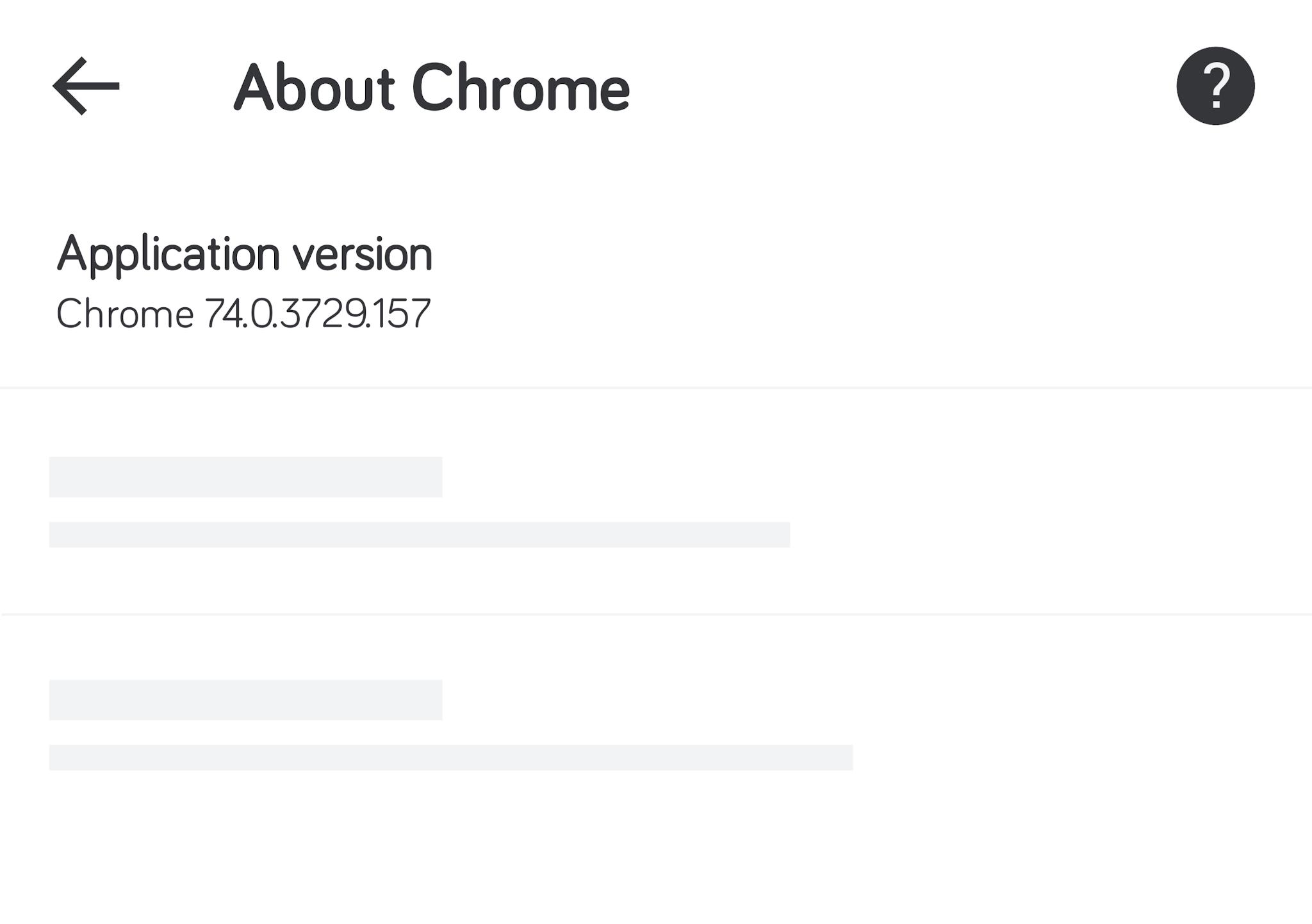 Chrome - About Chrome