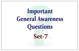 List of Expected General Awareness Questions for Upcoming RBI/IBPS Exams 2015 Set-7