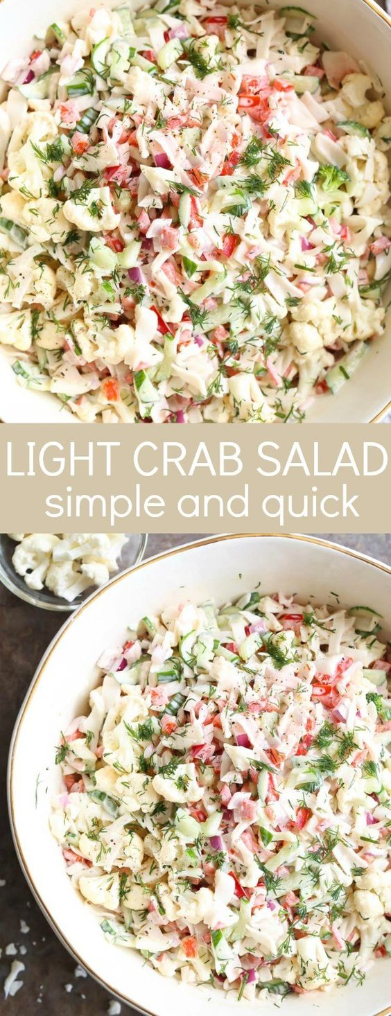 Light Crab Salad