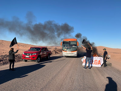 Trabajadores de Antucoya inician histórica huelga en AMSA