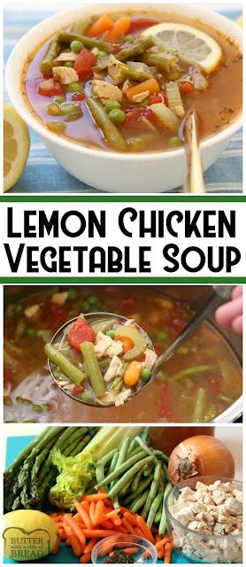 Lemon Chicken Vegetable Soup