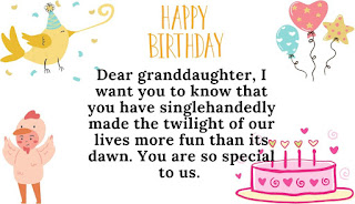 sweet happy birthday wishes for granddaughter