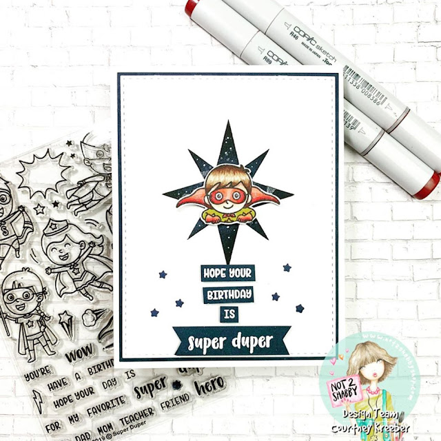 Sunny Studio Stamps: Super Duper Customer Birthday Card by Courtney Kreeber