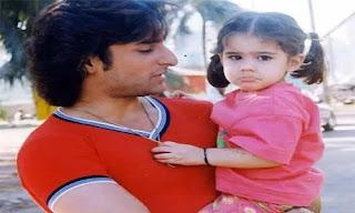 Sara Ali Khan And her father image childhood