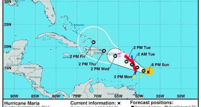 Las autoridades ponen los ojos en huracán María