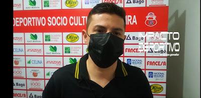 Robert Limpias, gerente del club Guabirá.